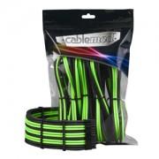 Set cabluri prelungitoare CableMod PRO ModMesh, cleme incluse, Black/Light Green