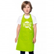 Bellatio Decorations Master chef keukenschort lime groen kinderen