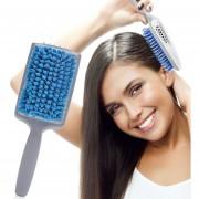 ER Microfibra De Cerdas Quick Absorbent Dry Peine Secado Peine De Pelo Cepillos - Gris Y Azul