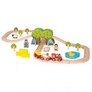 Bigjigs Rail Wooden Farm Train Set - 44 Play Pieces