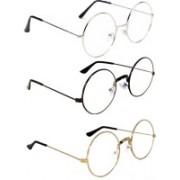 PekuNiary Round Sunglasses(Clear)