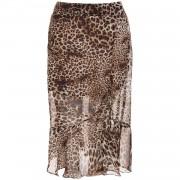ComeGetFashion Skirt Midi Leopard - Rokken
