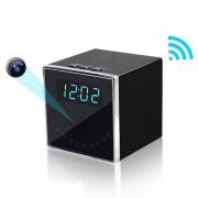 Mini HD 1080P inalambrico Wisconsin-Fi reloj de la camara-Negro