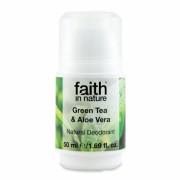 Deodorant roll on natural cu ceai verde si aloe vera 50 ml