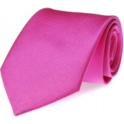 Krawatte Seide Fuchsia Uni F21 - Pink