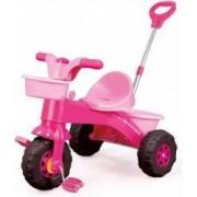 Prima mea tricicleta cu maner roz