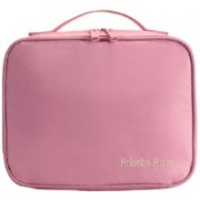 Shree Shyam Products Travel Makeup Bags Cosmetic Case Organizer Portable Storage Bag Cosmetics Makeup & Toiletry Accessories Bag Set Of 1 Pcs Travel Toiletry Kit(Pink)