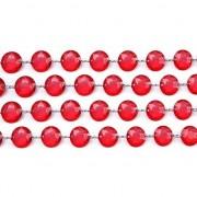 Merkloos Tafeldecoratie rood kristal slinger