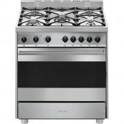 SMEG B8GMIX-9 Cucina 80x60cm Forno Termoventilato 100Lt 5 Fuochi 8 Funzioni Ghisa Inox