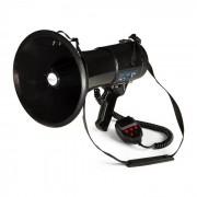 MEGA080USB Megafono Lettore MP380W 700m USB-Rec Impermeabile Cinghia Nero