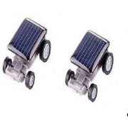 Neo Rising Innovative Cute Ultra Small Solar Energy Car. (2 Units Grey Multicolor)
