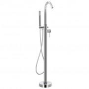 vidaXL Samostojeća slavina za kadu od nehrđajućeg čelika 118,5 cm