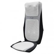 Husa de scaun pentru masaj Homedics 2in1 SensaTouch Shiatsu cu incalzire, MCS-1600H-EU, 15 setari de masaj, telecomanda, Gri/Negru