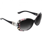 Zyaden Black UV Protection Oval Women Sunglasses