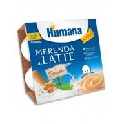 Humana Italia Spa Humana Merenda Al Latte - Biscotto 4 Vasetti Da 100g