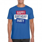 Toppers official merchandise Toppers - Blauw Toppers Happy Birthday party heren t-shirt officieel