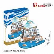CubicFun Insula Santorini Puzzle 3D 129 de piese