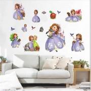 Stickere perete copii 5D Printesa Sofia
