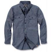 Carhartt Fort Solid Camisa de manga larga Azul XL
