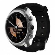"""Z18 android 5.1 1.3 """"pantalla redonda wi-fi bluetooth reloj inteligente w / monitor de frecuencia cardiaca? GPS? 512 MB RAM + 8 GB ROM - plata"""