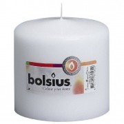 Bolsius stompkaars 10x10 cm wit