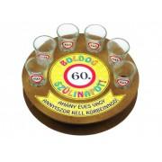Boldog szülinapot 60-as 6db 1,5cl FT007 - Tréfás Pálinkás kör pohár szett