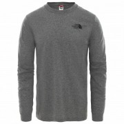 The North Face - L/S Simple Dome Tee Mixed - Manches longues taille S, gris