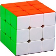 IndiaBuy 3x3x3 Stickerless High Speed 3D-Puzzle Extra Smooth Speed Professional Quality Magic Rubik's Cube 3D - Brain Teaser Puzzles Recommended for 3 - 99 Years