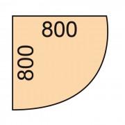 B2B Partner Narożna dostawka do stołu biurowego, 80 x 80 cm, biały