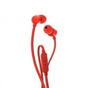 HEADPHONES, JBL T110 - слушалки с микрофон за iPhone, iPod, iPad и мобилни устройства, Червен