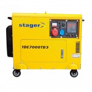 YDE7000TD3 Stager Generator de curent cu pornire electrica , putere 5.7 kVA , diesel , trifazat