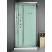 Box doccia idromassaggio rettangolare 100x80 cm Essential bianco