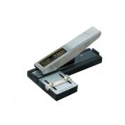 PERFORATOR PENTRU ECUSOANE LAMINATE, reglabil argintiu Metal Perforator birou Distantier gradat