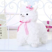 Gotovang Wearing A Hat Tie Alpaca Plush Toy Cute Sheep Pillow Doll Super Soft Dolls Creative Presents,For Girls/Kids Birthday Gift Toys