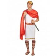 Vegaoo Cäsaren-Kostüm für Herren weiss-rot-goldfarben