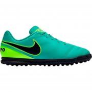 Zapatos Fútbol Niños Nike Jr Tiempo Rio III Tf-Verde