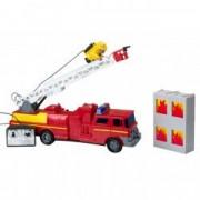 Masina rosie pompieri cu telecomanda figurina pompier pe scara