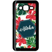 Coque Samsung Galaxy J5 Aloha Tropical Fond Blanc