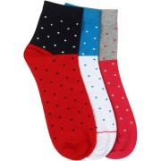 Soxytoes Polka Pirates Multi-Coloured Cotton Ankle Length Pack of 3 Pairs for Men Casual Socks (SOSN0004)