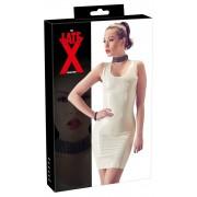LATEX - ujjatlan, latex miniruha (fehér)