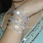 Heren Dames Voor Stel Armbanden met ketting en sluiting Armband Bruids Opvallende sieraden Kostuum juwelen Gesimuleerde diamant Sieraden