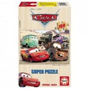 Puzzle din lemn Educa - Disney Cars, 100 piese (13139)