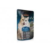 Hrana pisici Leonardo Plic cu Pastrav si Iarba Pisicii, 85 g