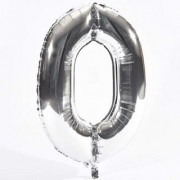 Crazy Sutra Zero Number Foil Toy Balloon silver