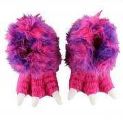 Merkloos Roze poten pantoffels voor meisjes