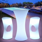 Svítící nábytek OPTEX LED mnohobarevný s ovládáním pro dům a zahradu