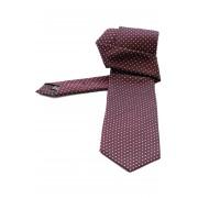 Cravata matase Jacquard Gentlemen`s Corner - bordo cu puncte albe - NOU!