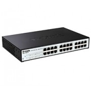 Switch D-Link DGS-1100-24P, Gigabit, 24x, PoE out, rack, managed, 24x GbE, 12x PoE GbE, crna