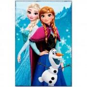 Paturica copii Frozen Sisters Star albastru