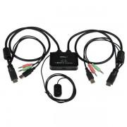 StarTech 2x USB/HDMI Kabel KVM Switch audio/remote